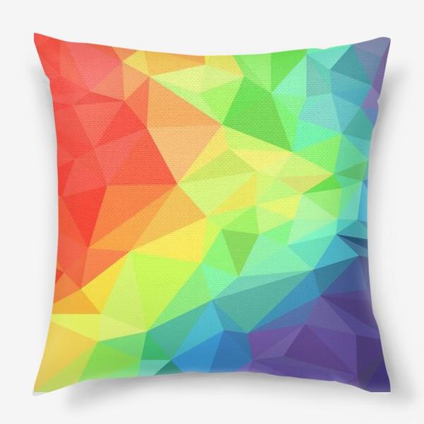 Подушка «Poligonal Rainbow»
