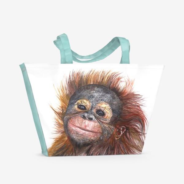 Пляжная сумка «Детёныш орангутанга»