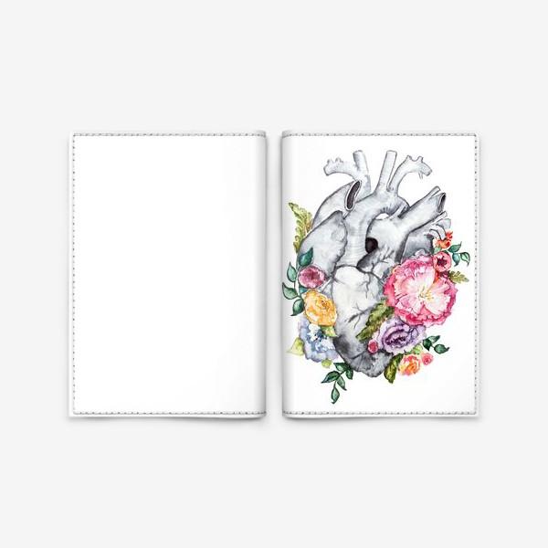 Обложка для паспорта «Расцветает любовь»