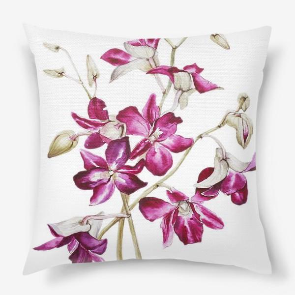 Подушка «Орхидеи»