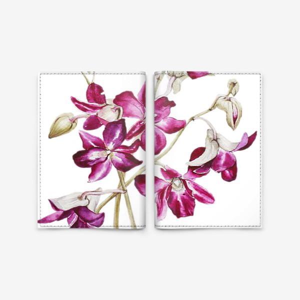Обложка для паспорта «Орхидеи»