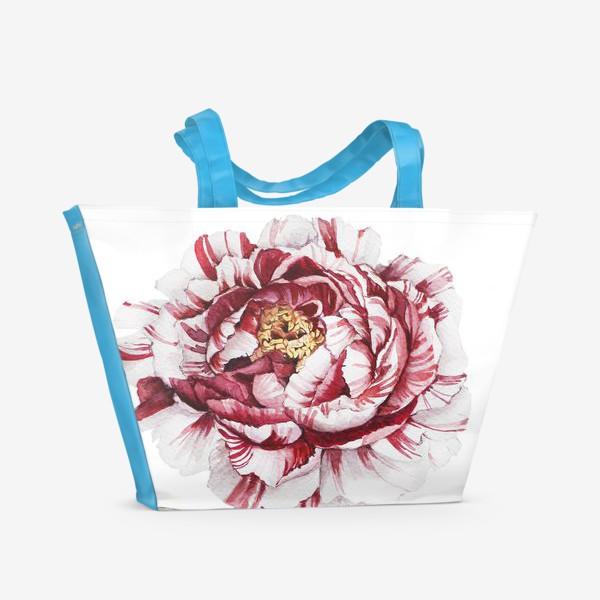 Пляжная сумка «Полосатый пион»
