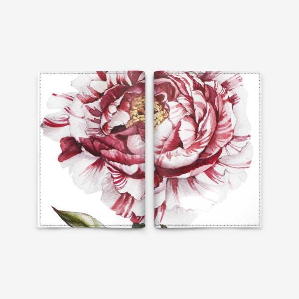 Обложка для паспорта «Полосатый пион»