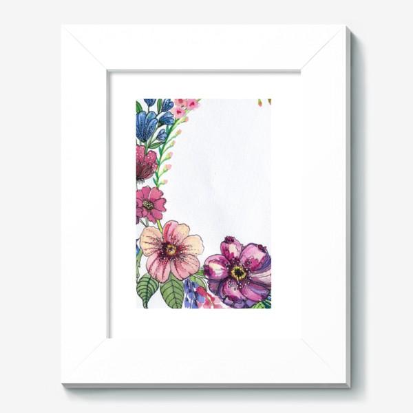 Картина «Цветы в венке»