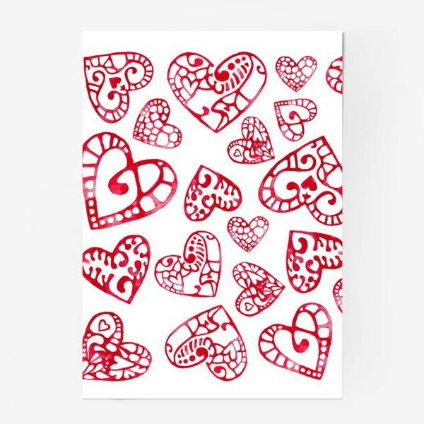 Постер «Сердечки»
