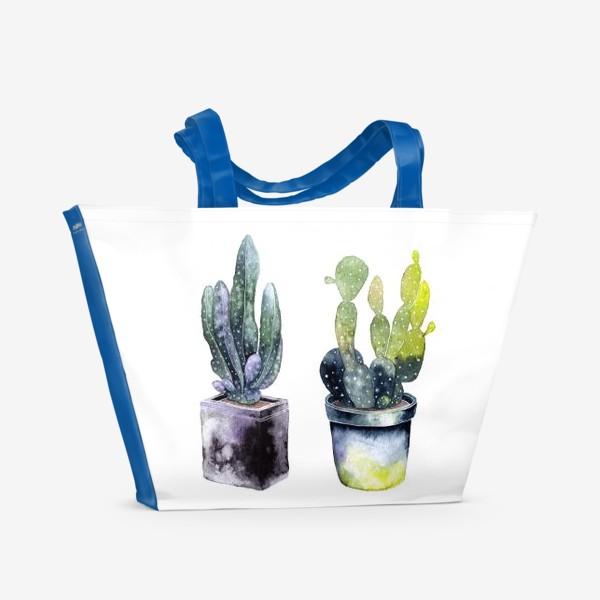 Пляжная сумка «Кактусы»