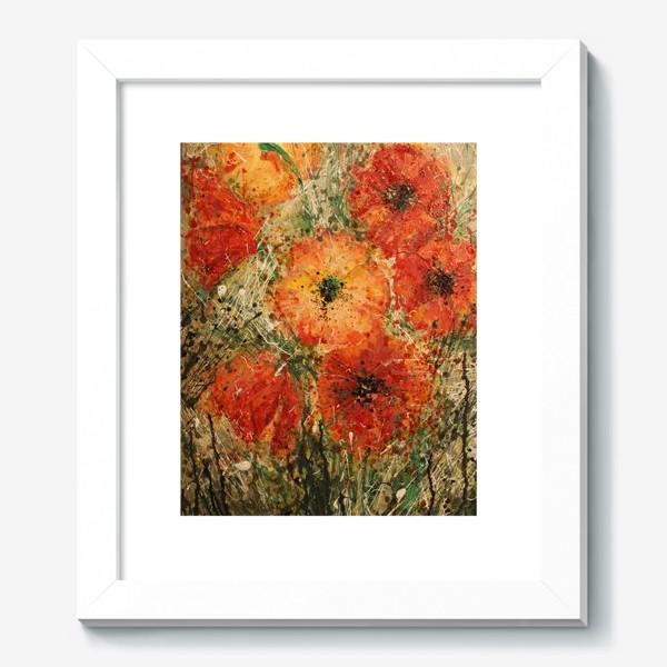 Картина «Красные маки Монте Кассино »