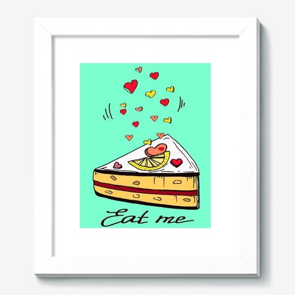 Картина «Лимонный кекс в подарок любителям сладкого и сердец»