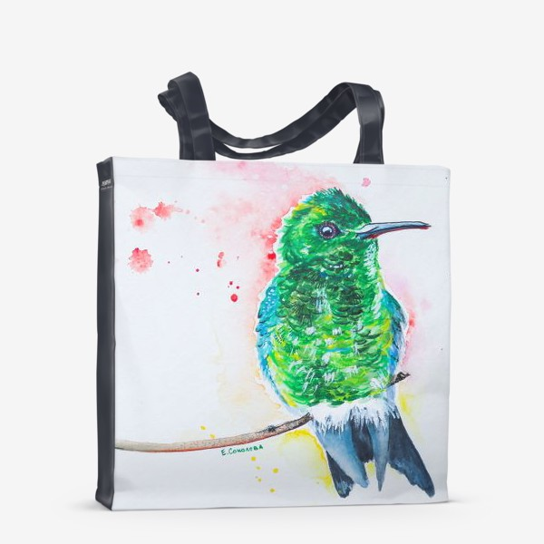 Сумка-шоппер «яркая птица колибри»