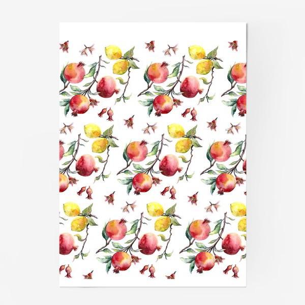 Постер «Гранат и лимон паттерн»