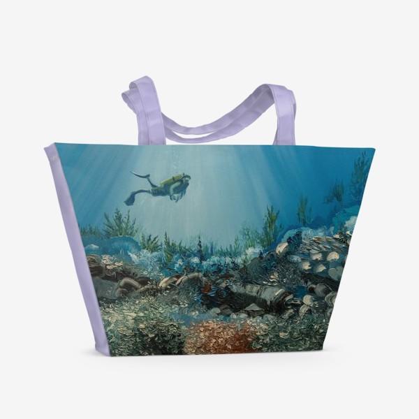Пляжная сумка «На дне морском»