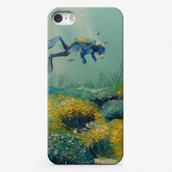 Чехол iPhone «Погружение в морскую стихию»
