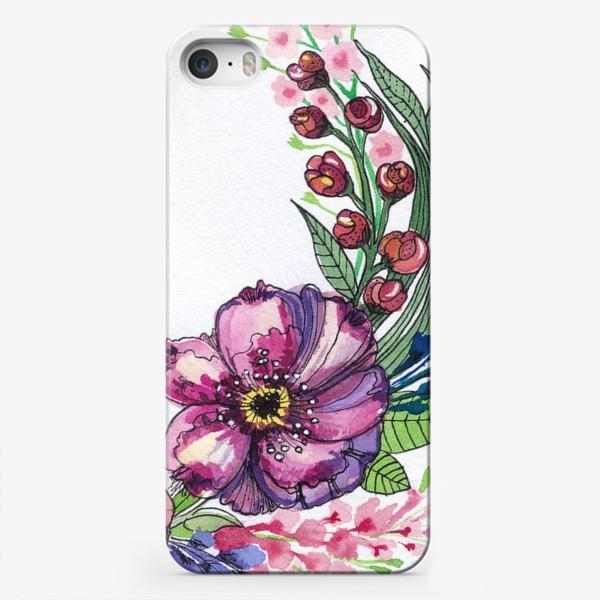Чехол iPhone «Цветы в венке»
