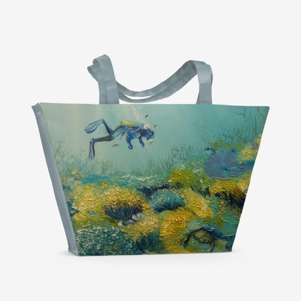 Пляжная сумка «Погружение в морскую стихию»