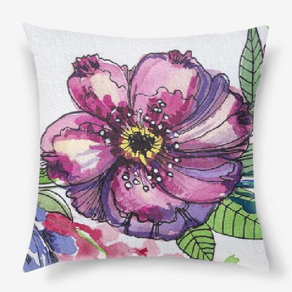 Подушка «Цветы в венке»