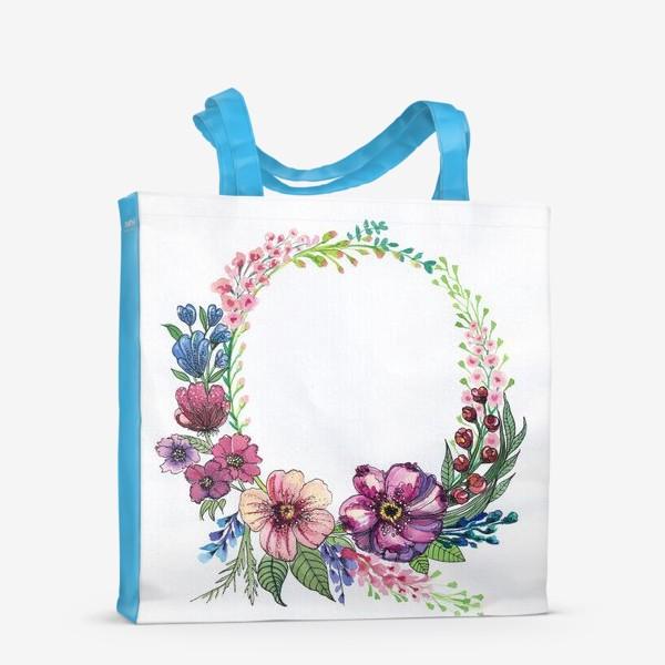 Сумка-шоппер «Цветы в венке»