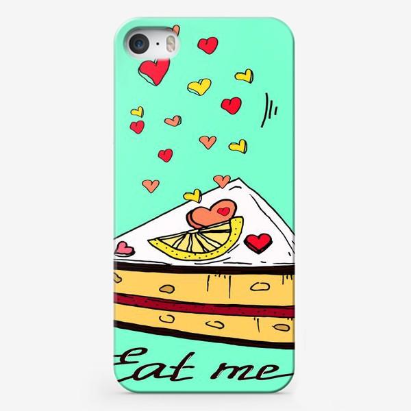 Чехол iPhone «Лимонный кекс в подарок любителям сладкого и сердец»