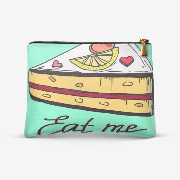 Косметичка «Лимонный кекс в подарок любителям сладкого и сердец»