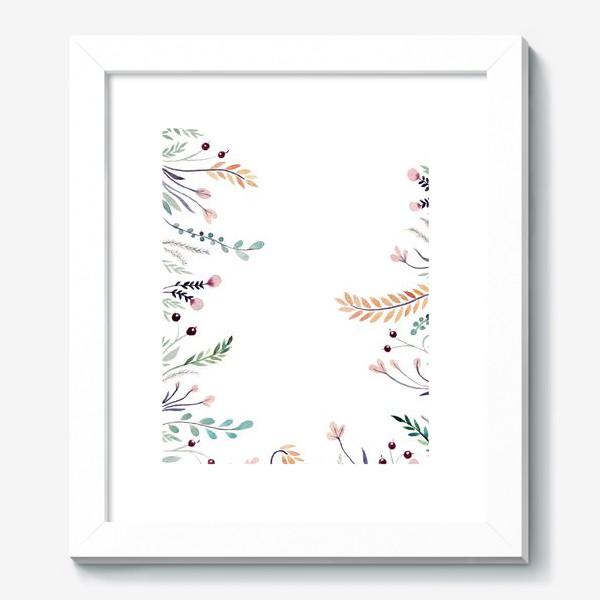 Картина «Веточки-цветочки, фон»