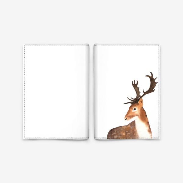 Обложка для паспорта «Олень. The Deer.»