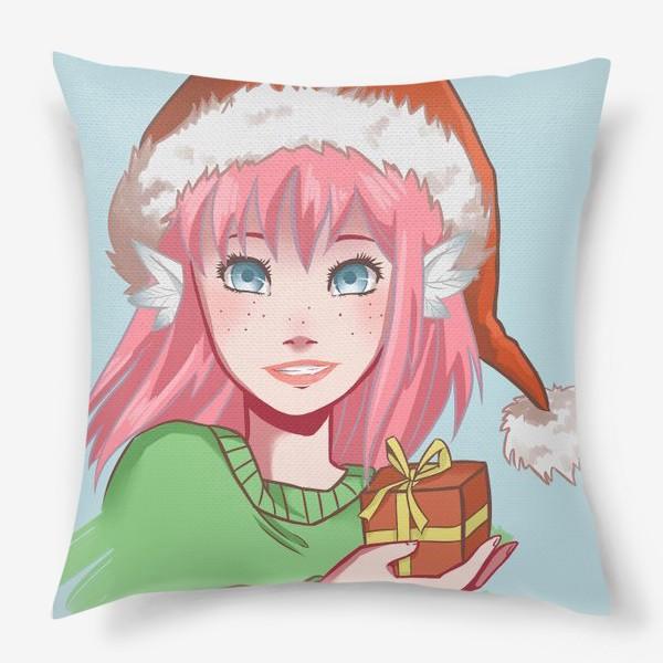 Подушка «Рождественский подарок»