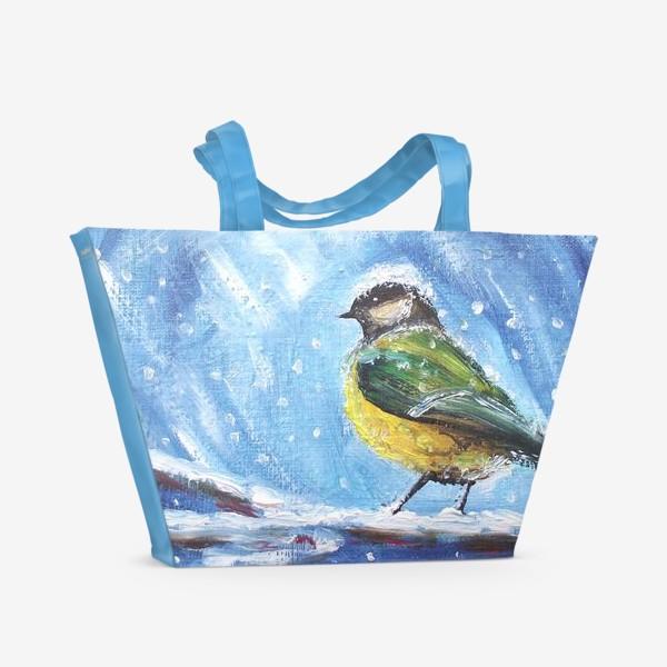 Пляжная сумка «Синичка»
