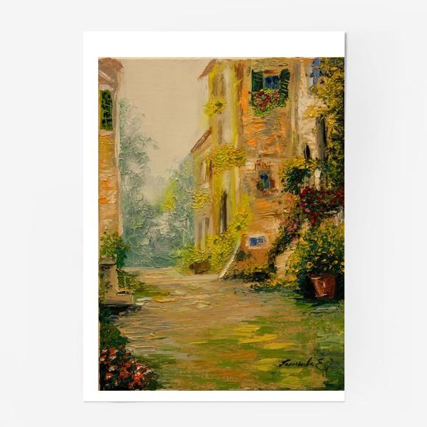 Постер «Старая улочка  Прованса»
