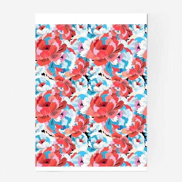Постер «Прекрасный яркий цветочный узор»