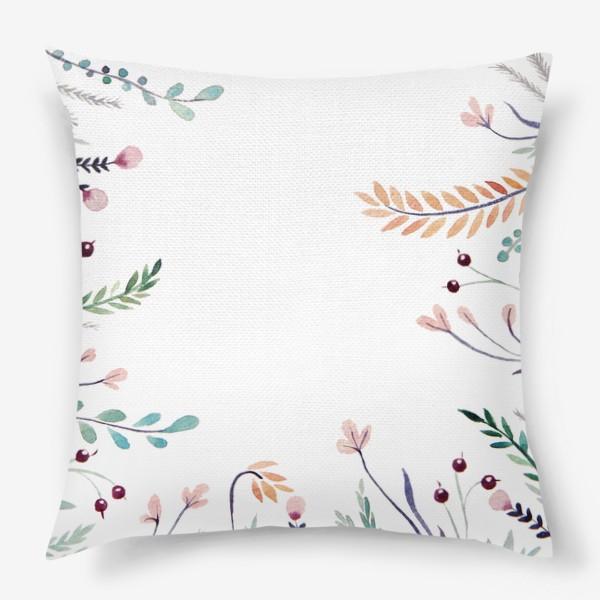 Подушка «Веточки-цветочки, фон»