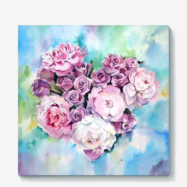 Холст «Сердце цветов»