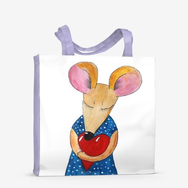 Сумка-шоппер «Мышка с сердцем»