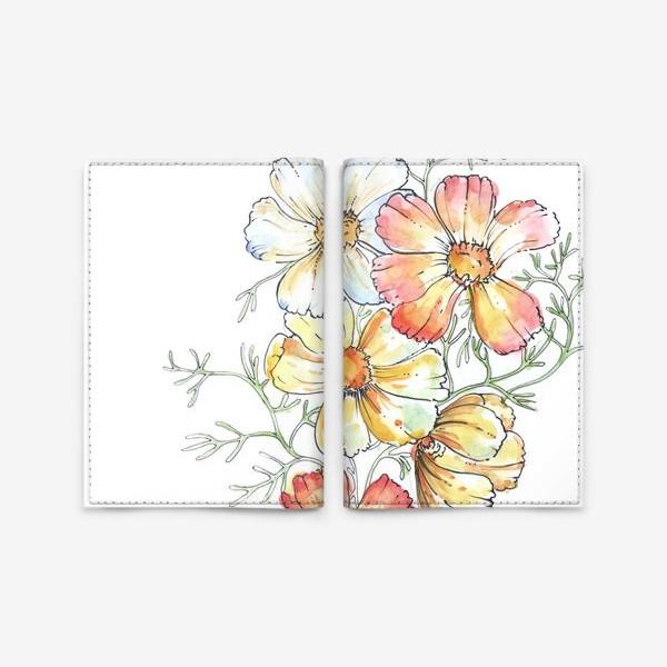 Обложка для паспорта «ромашки»