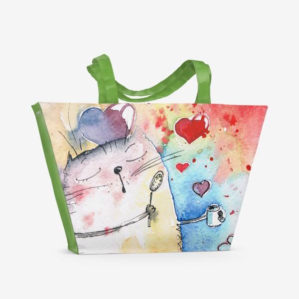 Пляжная сумка «Любовь вокруг нас»