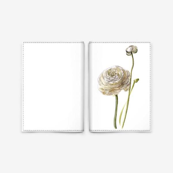Обложка для паспорта «Лютик белый»