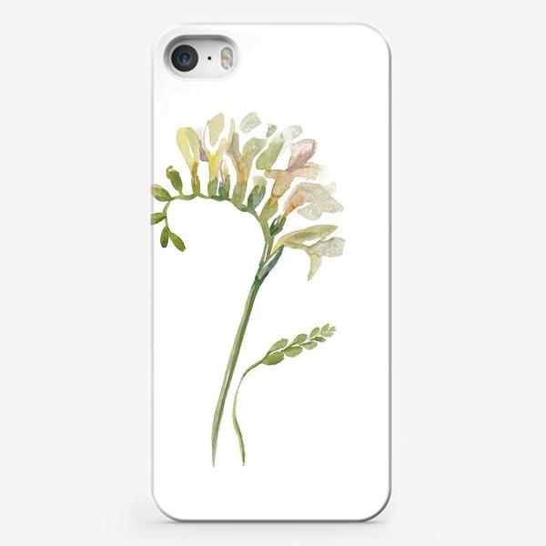 Чехол iPhone «Белая фрезия, нежная»