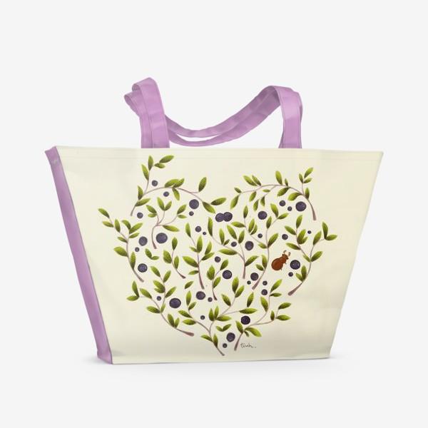 Пляжная сумка «Черничная любовь-2»