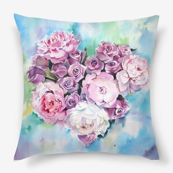 Подушка «Сердце цветов»
