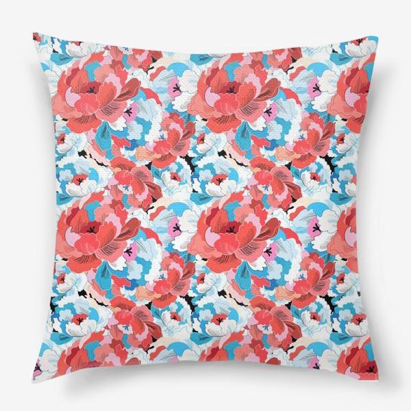 Подушка «Прекрасный яркий цветочный узор»