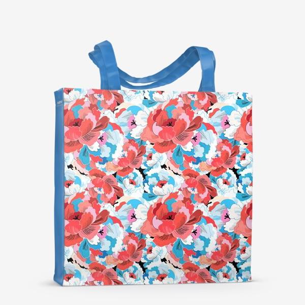 Сумка-шоппер «Прекрасный яркий цветочный узор»