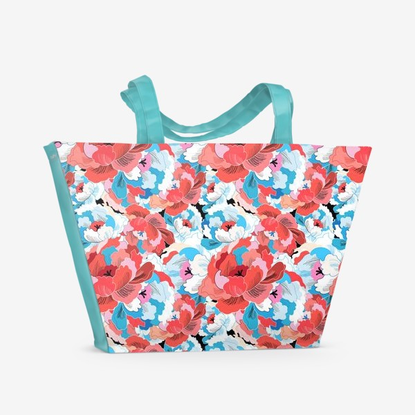 Пляжная сумка «Прекрасный яркий цветочный узор»