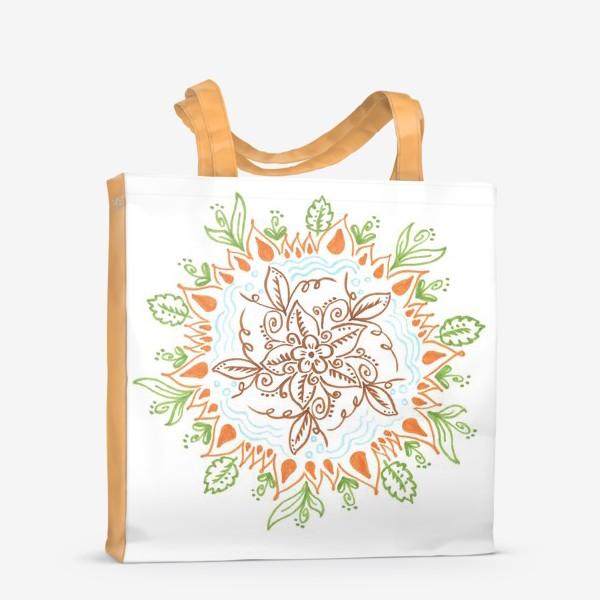 Сумка-шоппер «Цветочная мандала»