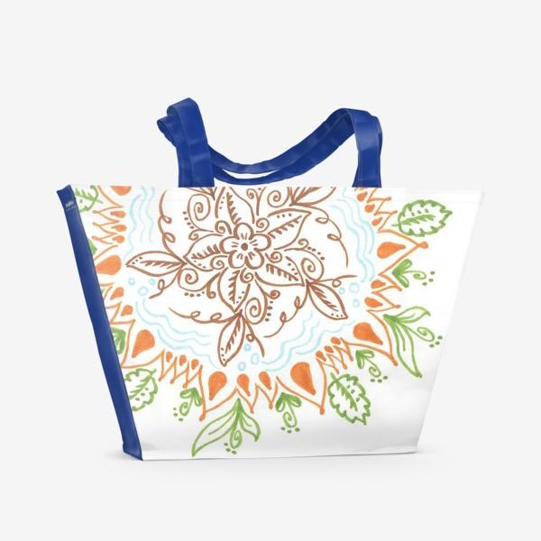 Пляжная сумка «Цветочная мандала»