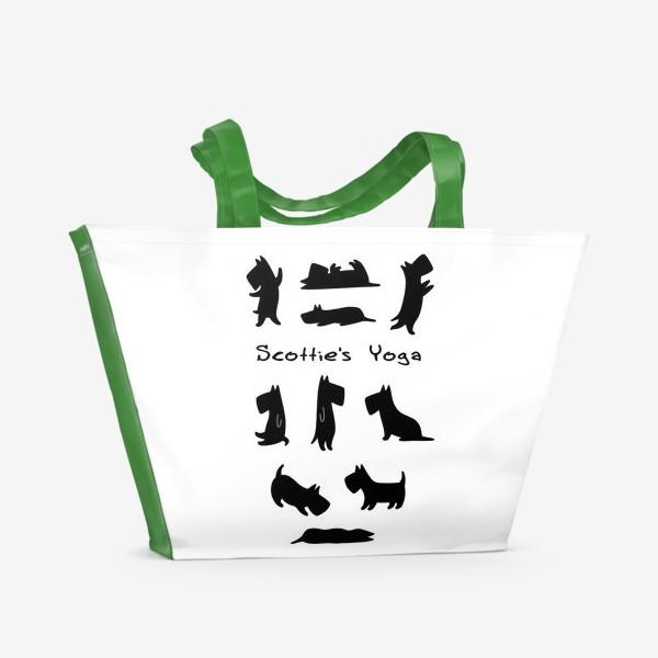 Пляжная сумка «Скотче-Йога»