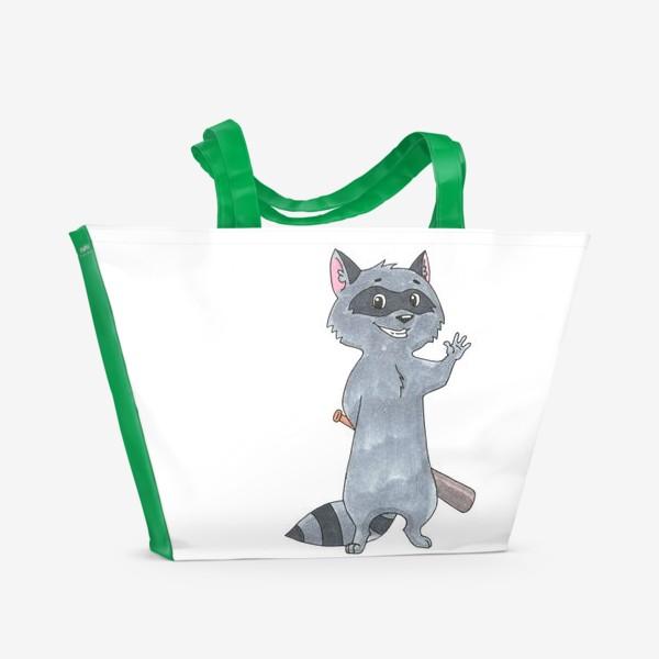 Пляжная сумка «Крошка енот»