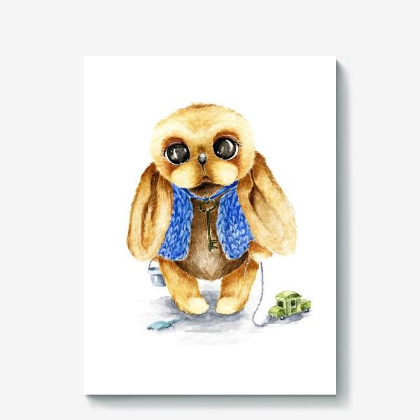 Холст «Игрушка зайка»