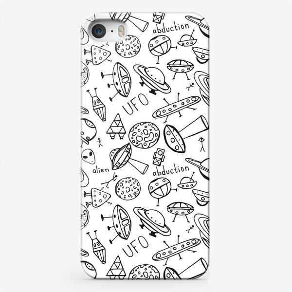 Чехол iPhone «НЛО UFO раскраска»