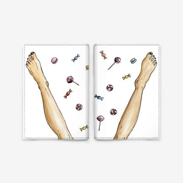 Обложка для паспорта «Ноги и сладости / счастье»