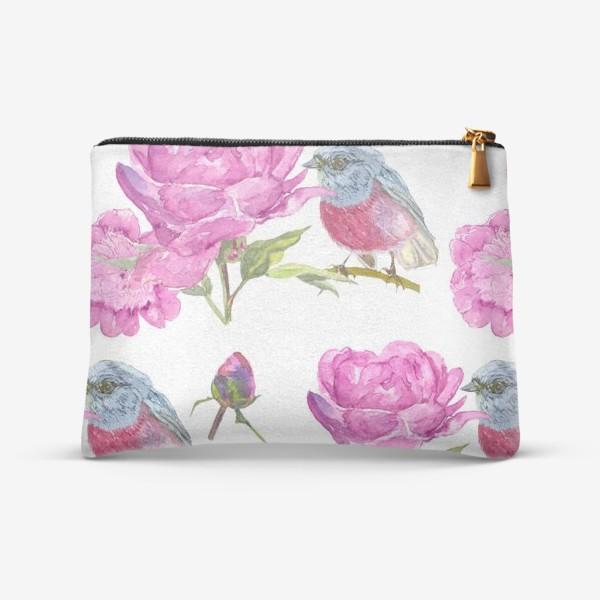 Косметичка «Розовые птицы»