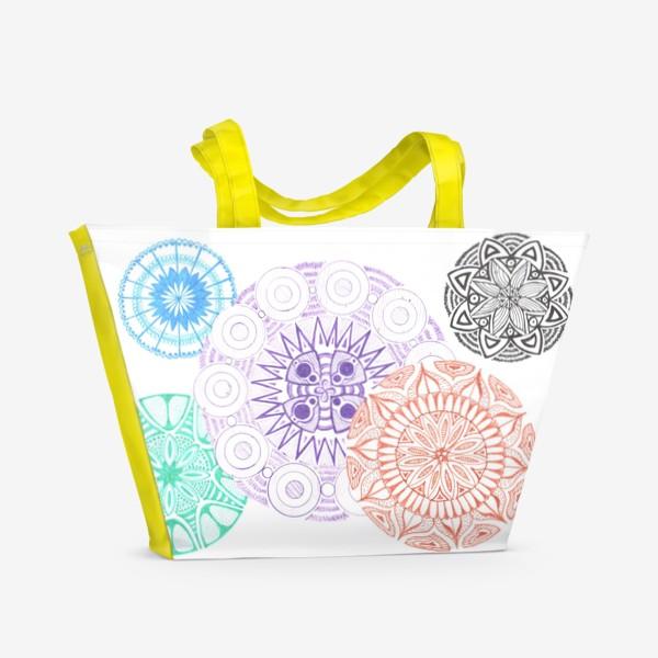 Пляжная сумка «Сферические узоры»