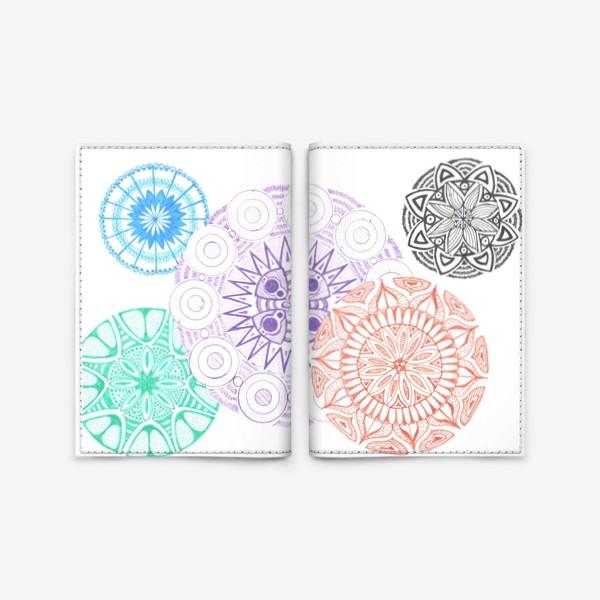 Обложка для паспорта «Сферические узоры»
